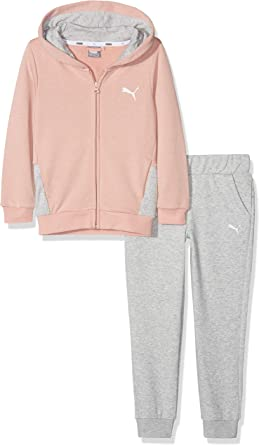 PUMA – Chándal para niña Sweat Suit: Amazon.es: Ropa y ...
