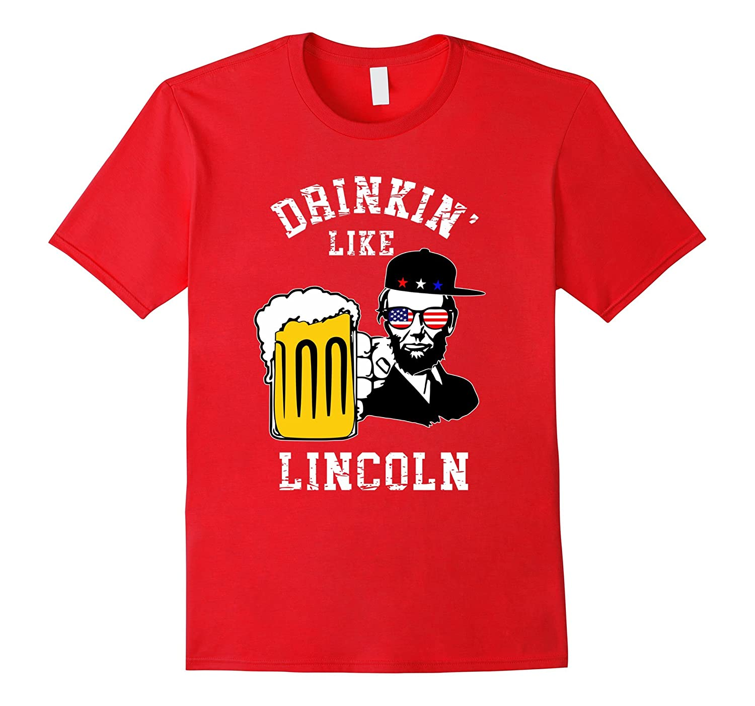 4th of July Lincoln Drinking Patriotic-TH