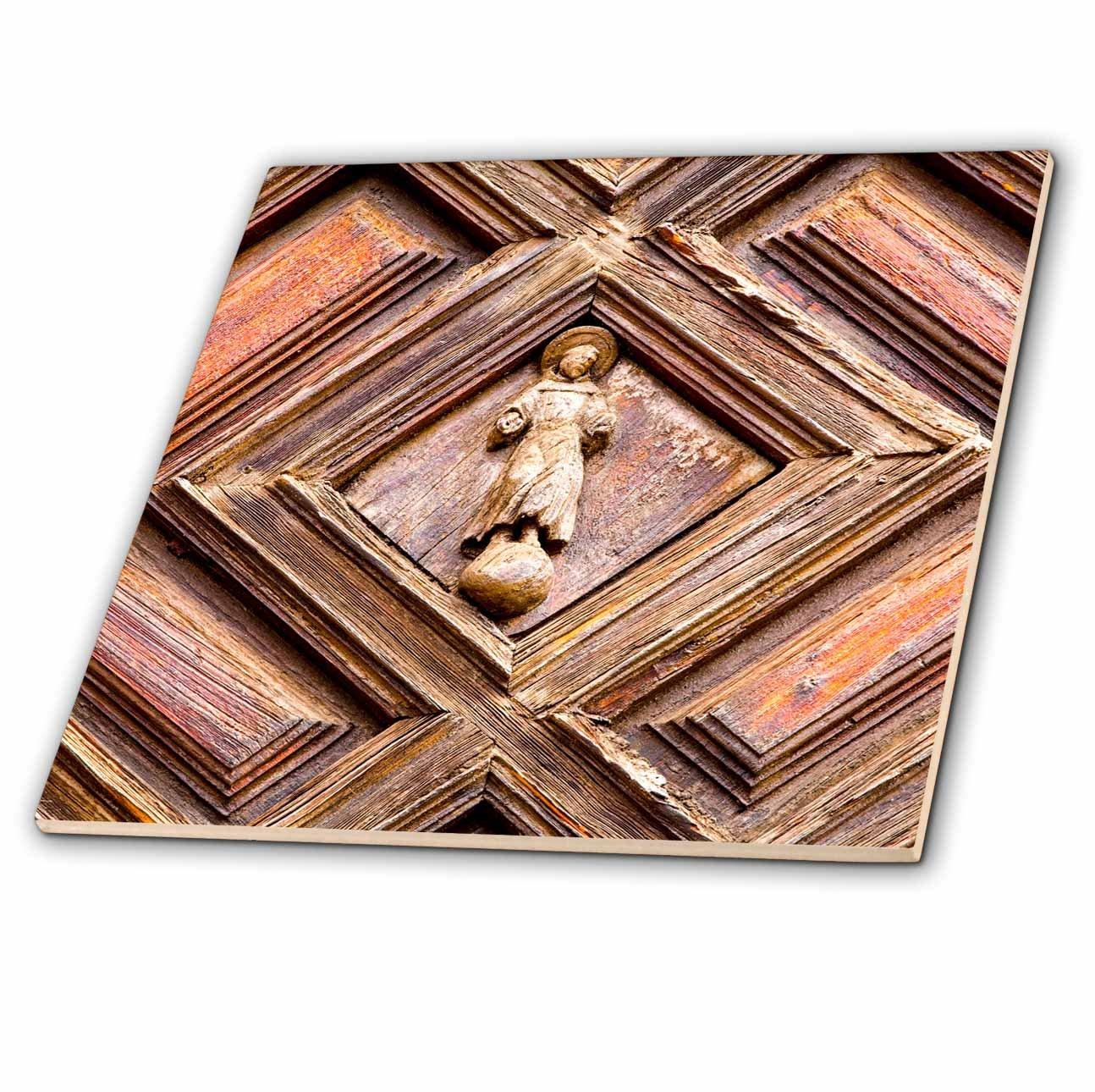 3dRose Danita Delimont - Religion - Mexico, Guanajuato, church door - 8 Inch Glass Tile (ct_278289_7)