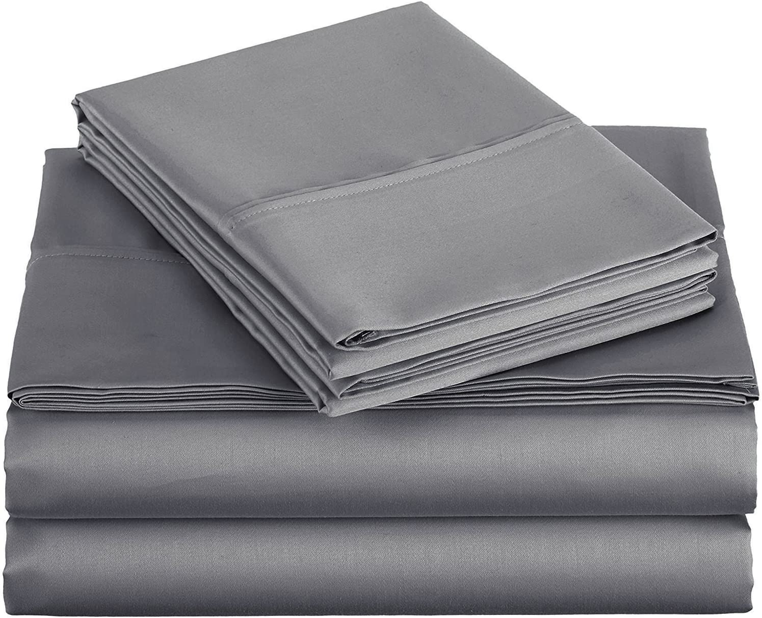 Ras Decor Linen TOP Split King 100% Cotton 600 Thread Count, Split Head Bed Sheet Set - 1 Fitted Sheet with 32
