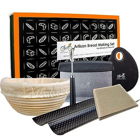 Strange Bread Baking Kit Gift Set 9 Banneton Bread Proofing Basket 2 Baguette Baking Pan Bread Lame 100 Flax Linen Couche Made In France Dough Ibusinesslaw Wood Chair Design Ideas Ibusinesslaworg