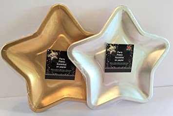 2 Pack Star Shaped Paper Plates 12 Silver 12 Gold & Amazon.com: 2 Pack Star Shaped Paper Plates 12 Silver 12 Gold: Toys ...