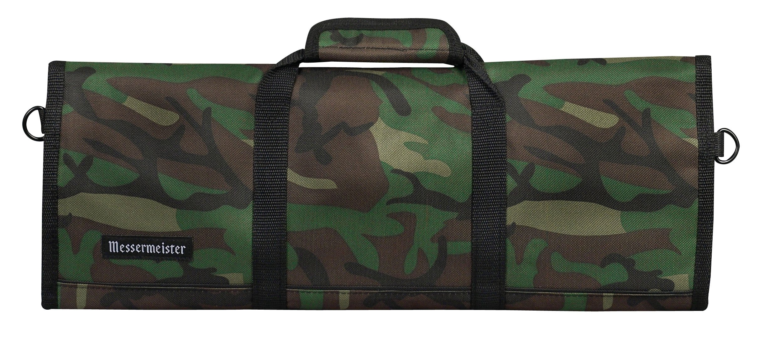 Messermeister 12-Pocket Padded Knife Roll, Camouflage