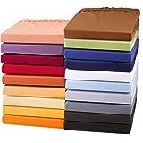 Exclusives Jersey Stretch Qualitäts Spannbettlaken 90x200 - 100x220 für Boxspringbetten, Wasserbetten und herkömmliche Matratzen, Baumwolle Elasthan Spannbetttuch, aqua-textil 0010727 schnee-weiß