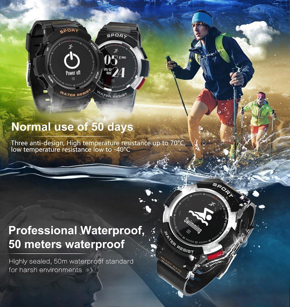 No. 1 F6 Reloj inteligente IP68 resistente al agua con bluetooth y ...
