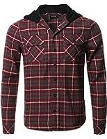 Amazon Com Unionbay Men S Classic Flannel Hoodie Clothing