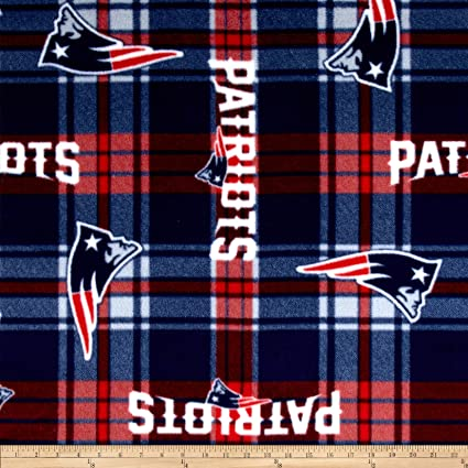 ad64d3c64a8 Amazon.com  Fabric Traditions NFL New England Patriots Plaid Fleece  Red Blue Fabric by The Yard