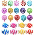 "21 pcs 18"" Sweet Candy Balloons, Round Lollipop Balloon Birthday Wedding Party Balloons"