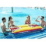 Kenley Beer Pong Pool Set - Bierpong Luftmatratze Tisch mit Löchern und Getränkekühler - Aufblasbar 180cm Bier Pong Matte Bierpongset - Party Zubehör & Trink Spiele für Erwachsene