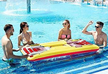 Kenley Flotador Hinchable para Jugar al Beer Pong - Tablero Hinchable para Juego de Beber - Juego para Beber en la Piscina