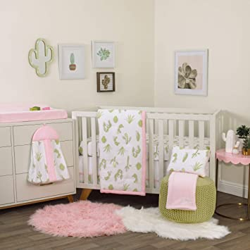 Amazoncom Nojo Dreamer Cactus 8 Piece Nursery Crib Bedding Set