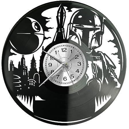 Star Wars - Reloj de Pared (Vinilo), diseño Retro: Amazon.es ...