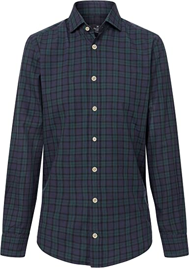 Hackett London Blackwatch Tartan, Camisa para Hombre, Multicolor ...