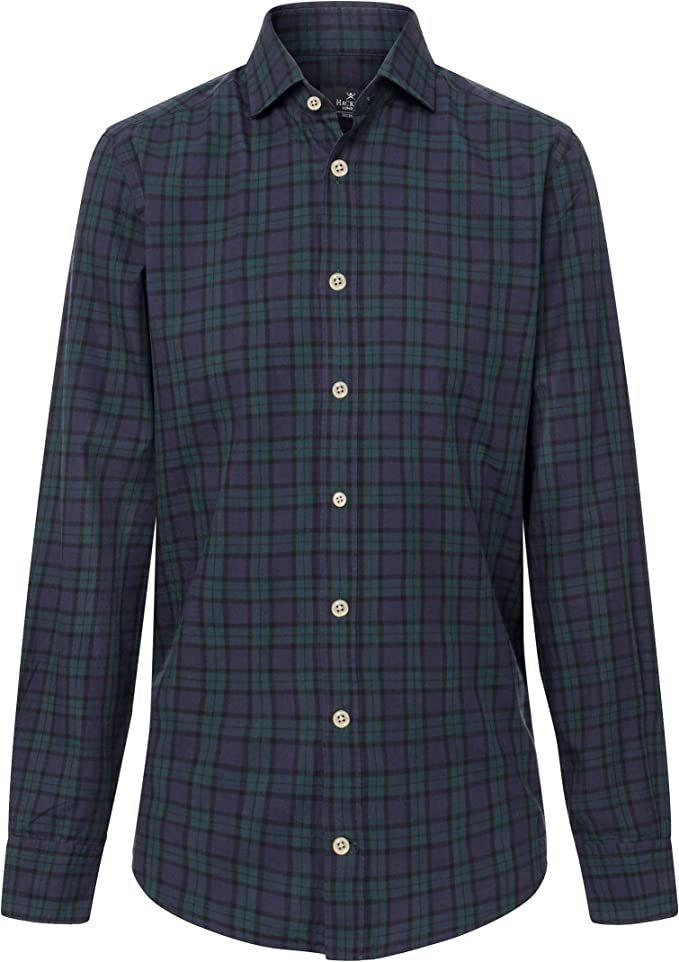 Hackett London Blackwatch Tartan, Camisa para Hombre