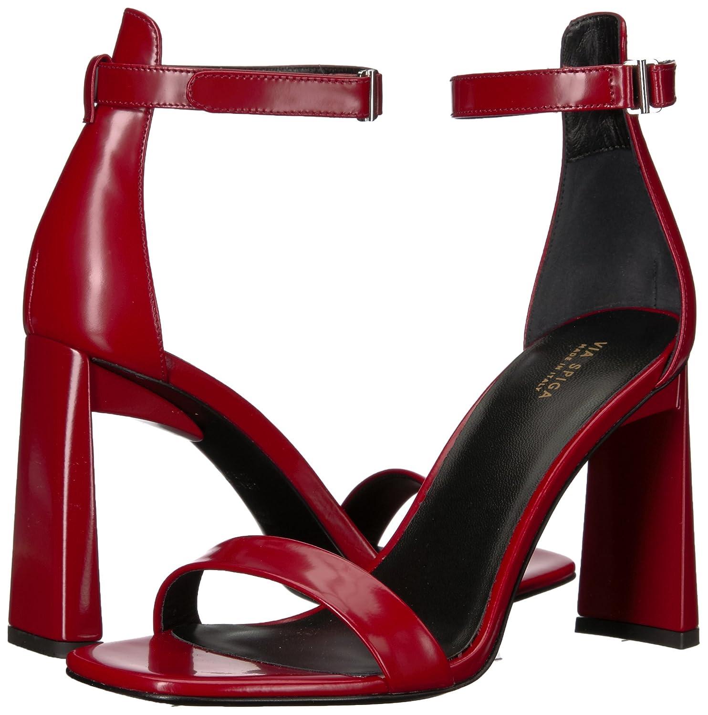 a51c2a72d7b Amazon.com: Via Spiga Women's Faxon Angular Heeled Sandal: Shoes
