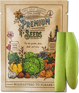 Gourd Seeds for Planting - Cucuzzi (Italian Edible) - 2 g 60+ Seeds - Non-GMO, Heirloom Farm & Garden Cuzuzzi Gourd Vegetable Seeds - Sealed in a Beautiful Mylar Package for Extended Shelf Life