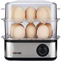 Vivo © Professional Electric 16 Egg Boiler Hard Soft Poached Cooker Omelette Maker Cook