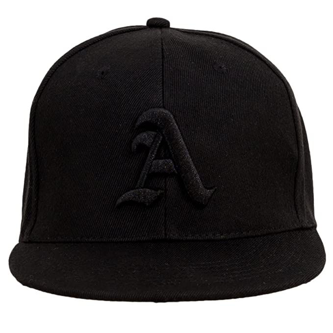 178b4b6711847 4sold Snapback Hat with Raised 3D Black Embroidery Letter Baseball Cap Hip-Hop  Cap Hat Headwear (Adult