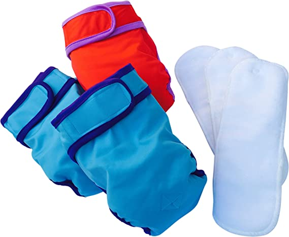 Amazon.com : Female Dog Diapers with dog liners - SMALL Dog Diapers Female - (3 pack) Doggie Diapers - Washable dog diapers - dog in heat - senior ...