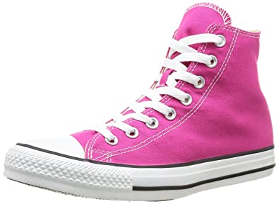 fed5feb65f6b Converse Unisex Adults  All Star HI Canvas Seasonal Gymnastics Shoes Pink  Size  8 UK