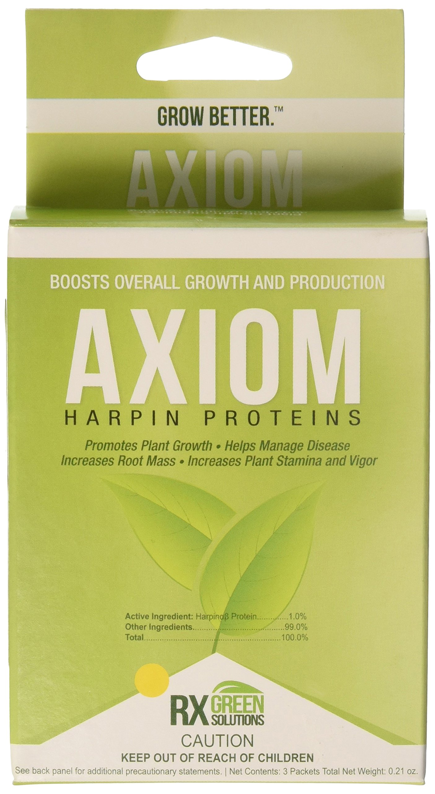 Rx Green Solutions RXAXM3X2G 3 Count Axiom Harpin Protein for Plant Growth, 2gm