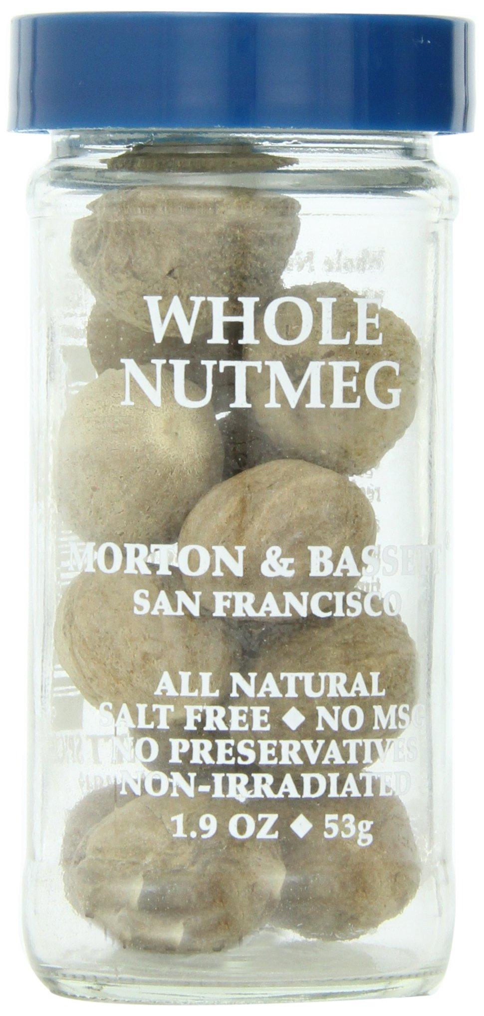 Morton & Basset Spices, Whole Nutmeg, 1.9 Ounce (Pack of 3)