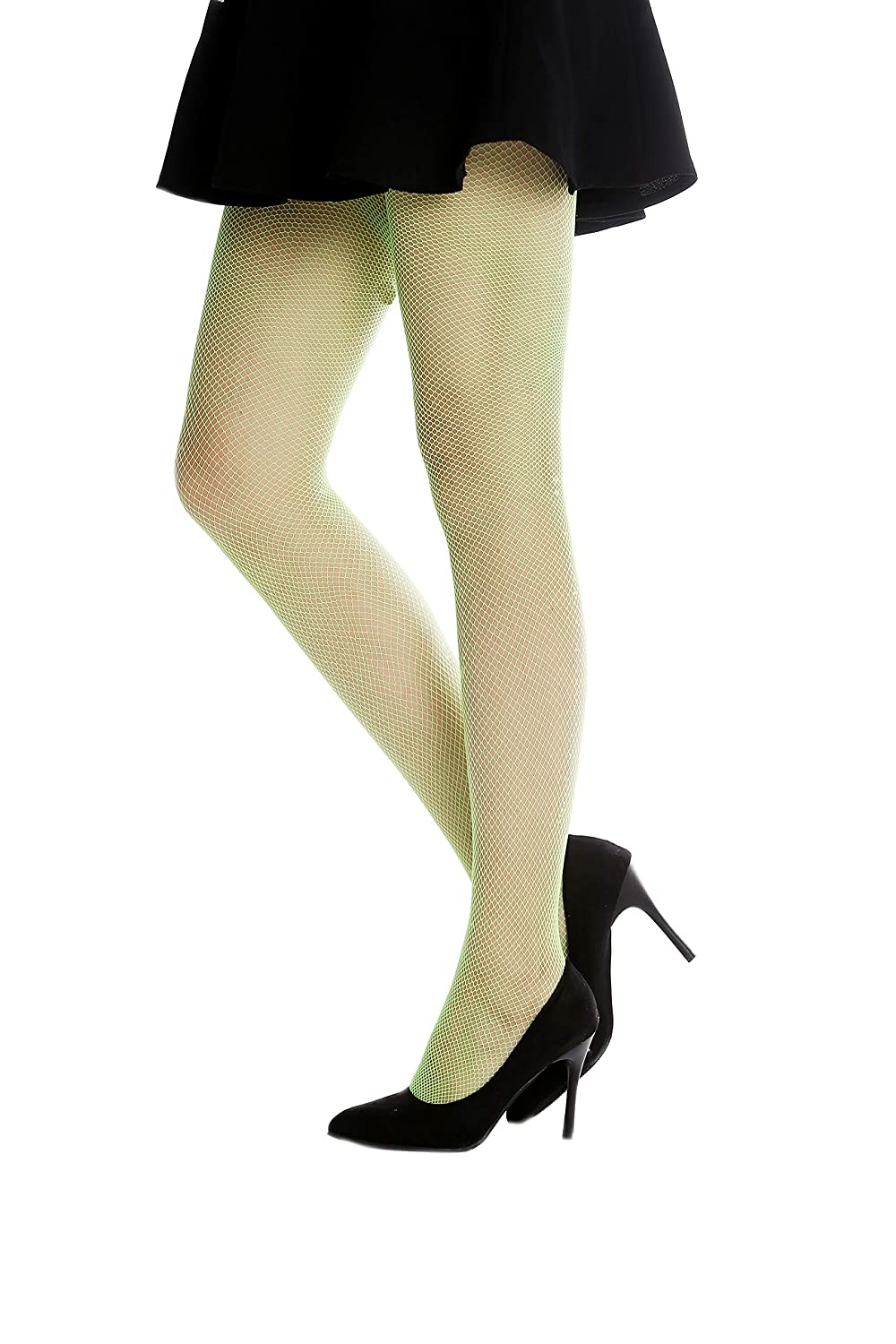 20bc9921a0c63 DRESS ME UP - W-020B-green Pantyhose Tights fishnet Lady Costume Halloween  elastic bright red fairy S/M: Amazon.co.uk: Toys & Games