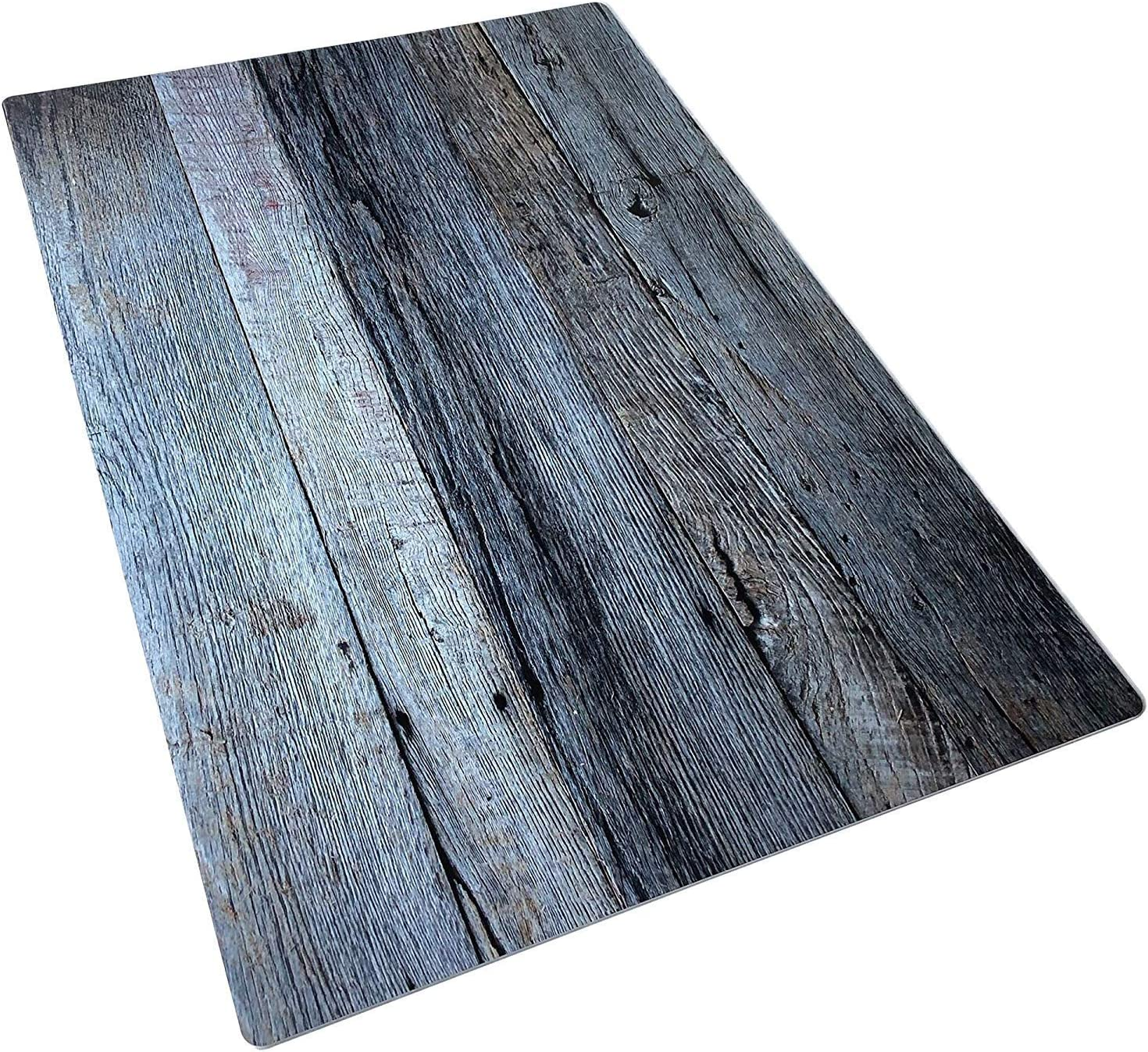 Bessie Bakes White & Silver Gray Blue Reclaimed Wood Replicated Board for Food & Product Photography 2 ft x 3ft | 3 mm Thick Moisture Resistant Stain Resistant Lightweight