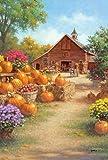Toland Home Garden Farm Glory 12.5 x 18 Inch Decorative Rustic Harvest Fall Autumn Pumpkin Flower Garden Flag