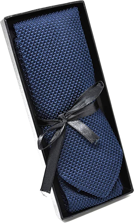 Oxford Collection Corbata de hombre Azul Marino de Punto - 100 ...