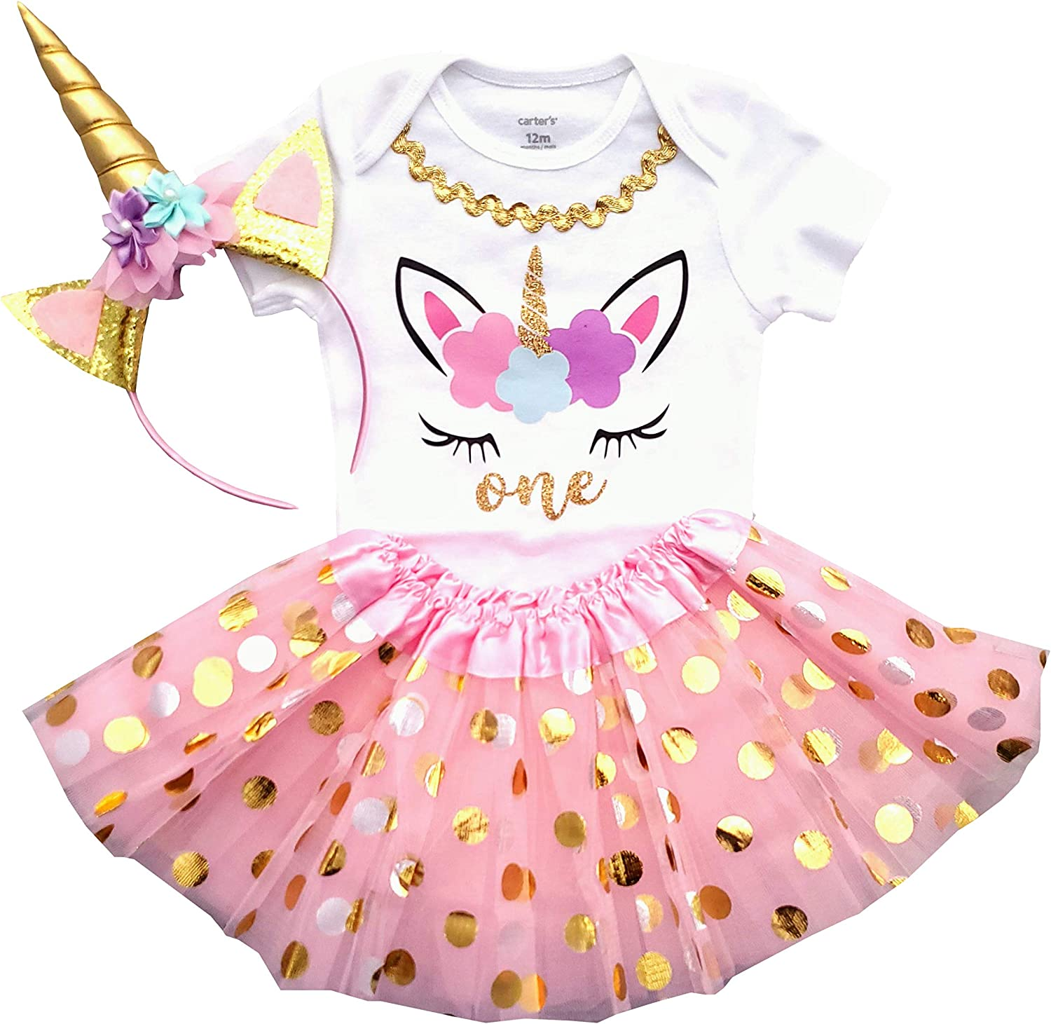 Magical and One Tutu Outfit  Unicorn First Birthday Outfit Whimisical Unicorn Baby Girl Clothes Second Birthday