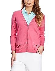 XFORE Golf Damen Pullover Cardigan aus Kaschmir Seide Baumwolle, Palo Alto,  in 3f2bd1f702