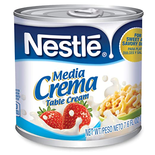 Amazon.com : Media Crema Table Cream Cans - Add Rich, Creamy Texture to Sweet and Savory Dishes, Shelf Stable Table Cream, 8 Count : Grocery & Gourmet Food