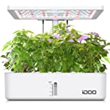 iDOO Indoor Herb Garden, 12Pods Hydroponics Growing System for Kitchen Countertop Bulit-in Fan, Plants Germination Kit with G