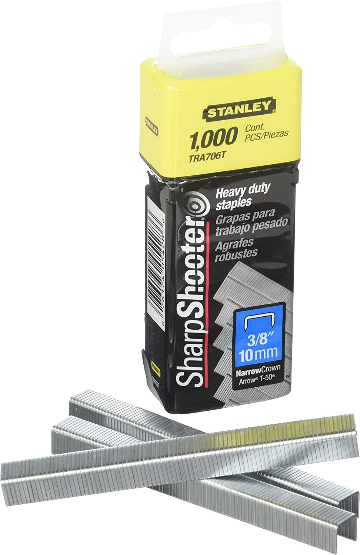 TRA706T Stanley Sharpshooter Staples 3//8 Inch Leg Length 1000//Box