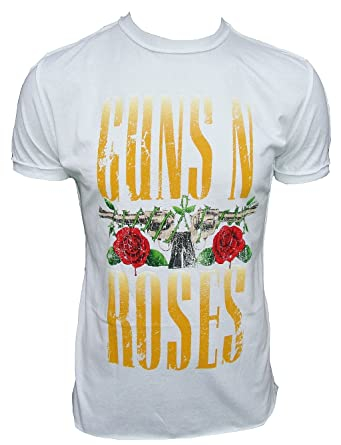 Amplified - Camiseta para hombre blanco Official Official Guns N Roses Logo Rock Star Tattoo Vintage blanco 48: Amazon.es: Ropa y accesorios
