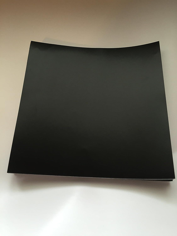 """5 25 10 50 Packs Gloss // Matt Black Stickers Transfers for 6/"""" 6 Inch Tiles"""