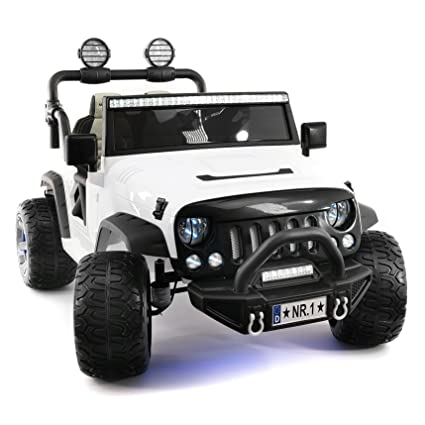 fd36087d5 Explorer 2 (Two) Seater 12V Power Kids Ride-On Car Truck with R C Parental  Remote + EVA Rubber LED Wheels + Leather Seat + MP3 Music Player Bluetooth  FM ...