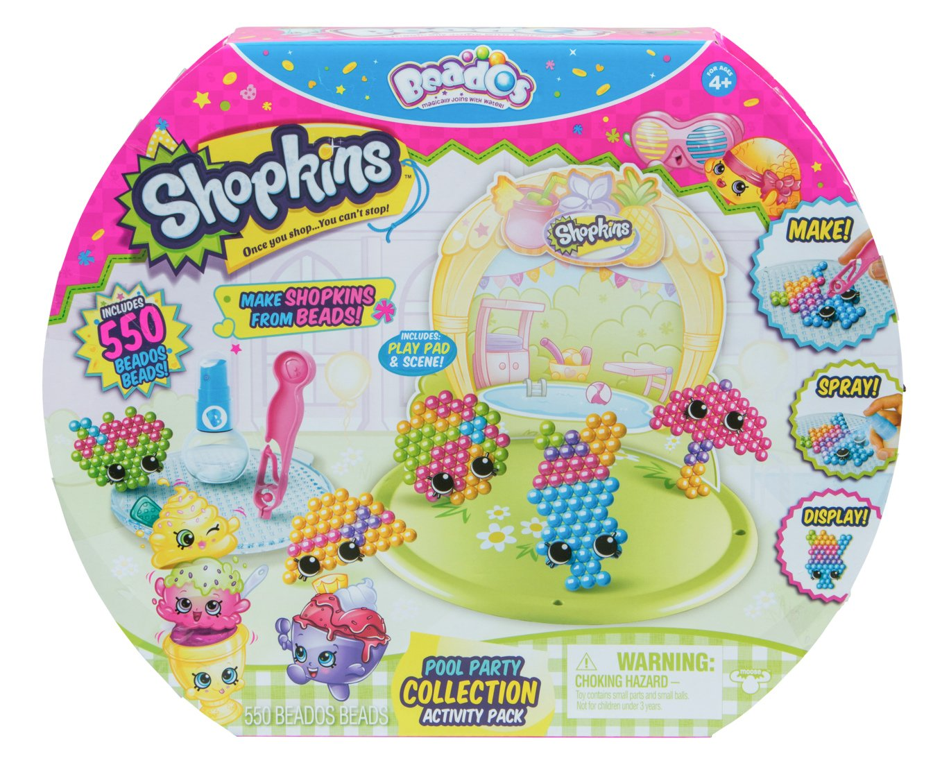 Beados Season 7 Shopkins Activity Pack Pool Party