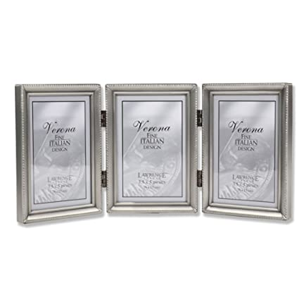 Amazon Lawrence Frames Antique Pewter Hinged Triple 3x5