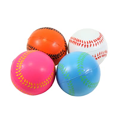 We pay your sales tax 4 Big Baseball Hand Wrist Finger Exercise Stress Relief Therapy Squeeze Balls: Toys & Games [5Bkhe1006371]