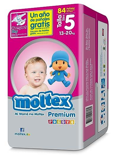 Moltex Premium Bolsa de Pañales Desechables - 84 Pañales: Amazon.es: Salud y cuidado personal