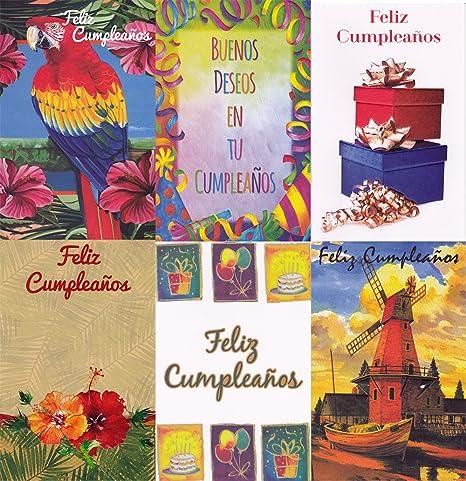 Amazon.com: Assorted Español (Feliz cumpleanos) Cumpleaños ...