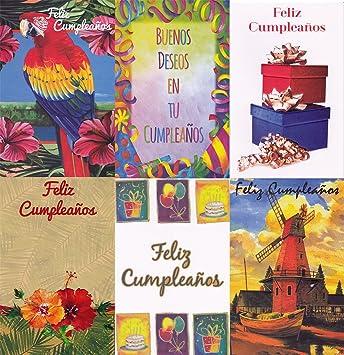 Amazon assorted spanish feliz cumpleanos birthday greeting assorted spanish feliz cumpleanos birthday greeting cards 36 pack m4hsunfo