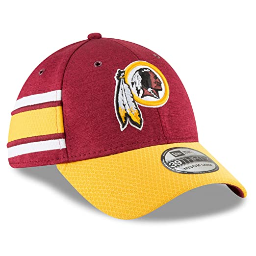 New Era Men s Washington Redskins 2018 NFL On Field Sideline Hat  Burgundy Gold Size Small cc0484f39ad