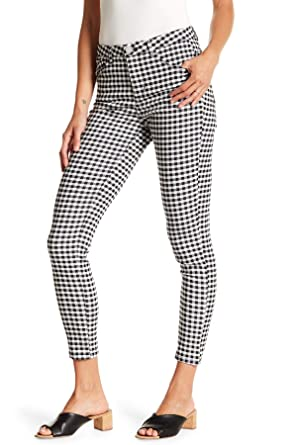 938b0ada9987 Democracy Ab Technology High Rise Gingham Pants, Black-White at ...
