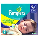 Amazon Price History for:Pampers Swaddlers Overnights Diapers Size 5, 52 Count