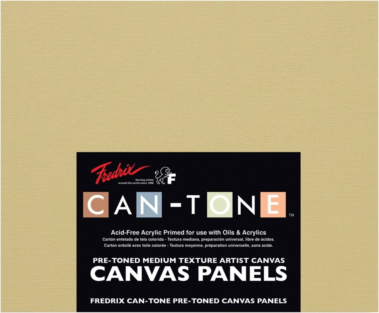 Fredrix Can-Tone Canvas Pads 5 x 5 Inches 8 Sheets Multicolor