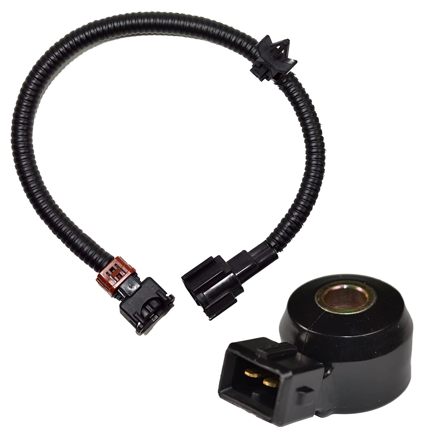 81n2NnpuFPL._SL1500_ amazon com hqrp knock sensor w wiring harness for nissan 200sx 2001 nissan xterra knock sensor wiring harness at suagrazia.org