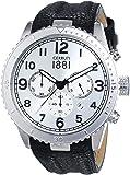 Cerruti - CRA104SN04BK - Montre Homme - Quartz Analogique - Bracelet cuir noir